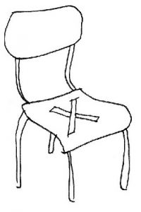 Dessin Zélig 4 - La chaise vide