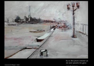 Paris-les quais l'hiver